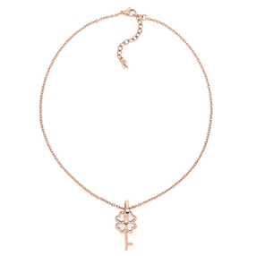 On Key Rose Gold Plated Short Necklace-