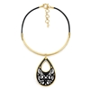 Desire Drops Leather Cord Collar Necklace