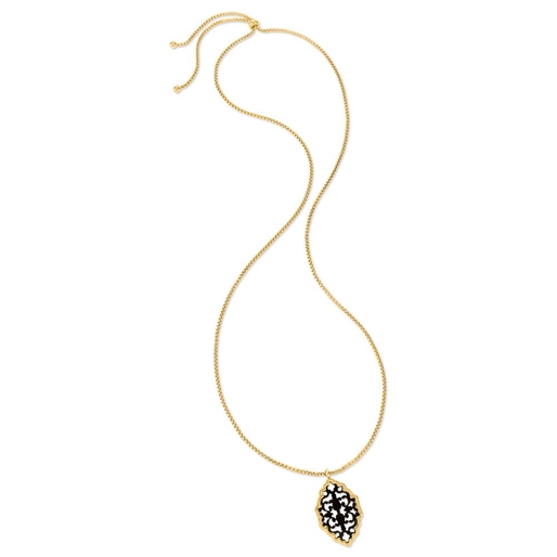 Desire Drops Yellow Gold Plated Long Necklace-