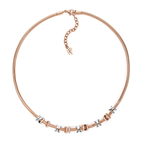 Love Memo Rose Gold Plated Short Necklace-