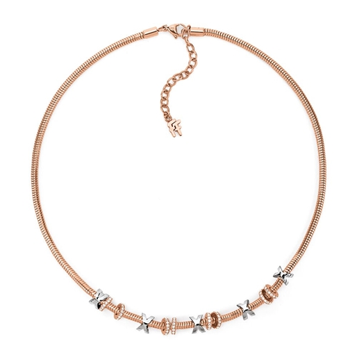 Love Memo Rose Gold Plated Short Necklace -