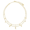 Wishing On Silver 925 18k Yellow Gold Plated Short Necklace