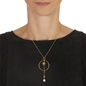 Wishing On Silver 925 18k Yellow Gold Plated Long Necklace-