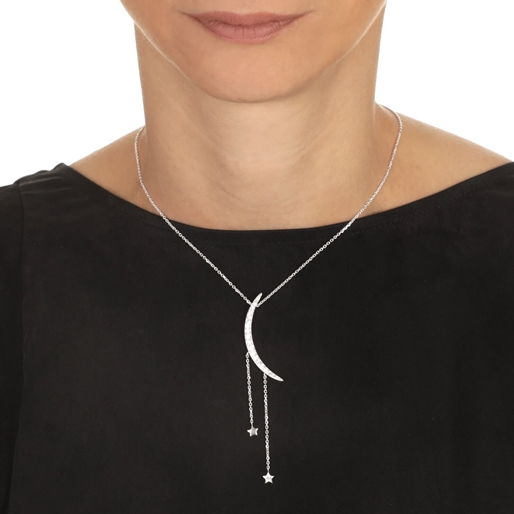 Wishing On Silver 925 Short Necklace-