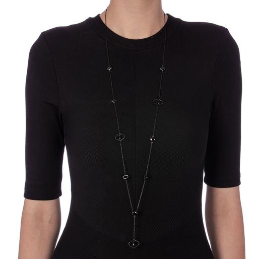 Dream Princess Black Plated Long Necklace-