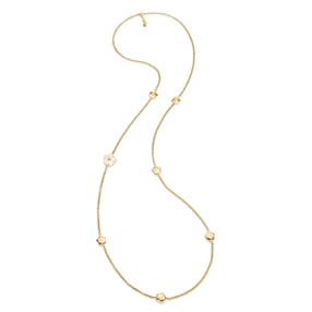 Bloom Bliss Yellow Gold Plated Μακρύ Κολιέ-