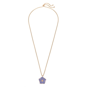 Bloom Bliss Rose Gold Plated Long Necklace-