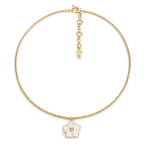 Bloom Bliss Yellow Gold Plated Small Motif Short Necklace-