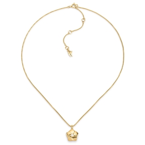 Bloom Bliss Yellow Gold Plated Κοντό Mini Motif Κολιέ-