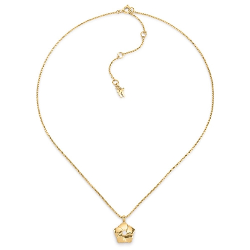 Bloom Bliss Yellow Gold Plated Mini Motif Short Necklace-
