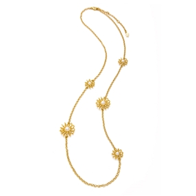 Dainty World Silver 925 18k Yellow Gold Plated Long Necklace-