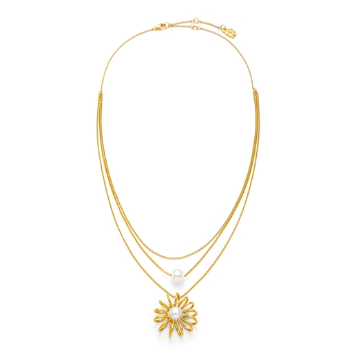 Dainty World Silver 925 18k Yellow Gold Plated Medium Length Necklace-