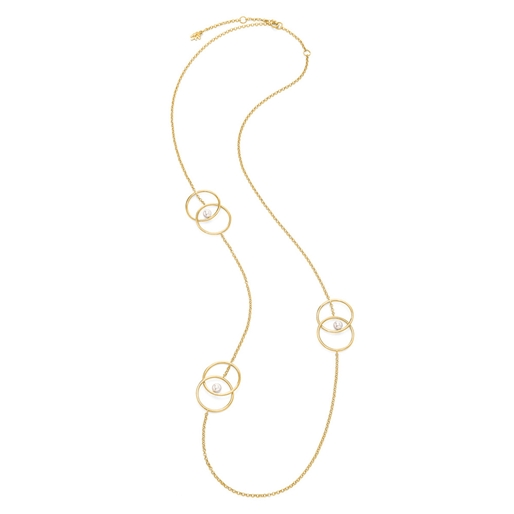 Link Up Silver 925 18k Yellow Gold Plated Μακρύ Κολιέ-