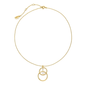 Link Up Silver 925 18k Yellow Gold Plated Κοντό Κολιέ-
