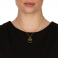 Link Up Silver 925 18k Yellow Gold Plated Short Necklace-