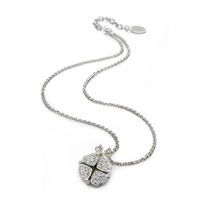 Heart4Heart Silver Plated Short Necklace-