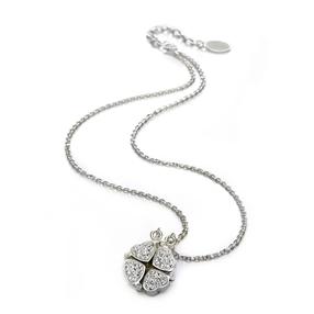 Heart4Heart Silver Plated Κοντό Κολιέ-