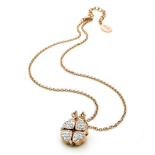 Heart4Heart Rose Gold Plated Κοντό Κολιέ-
