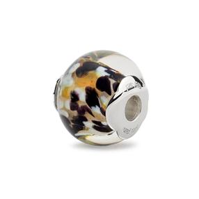 Rebel Riviera Silver Plated Mourano Glass Bead Pendant-