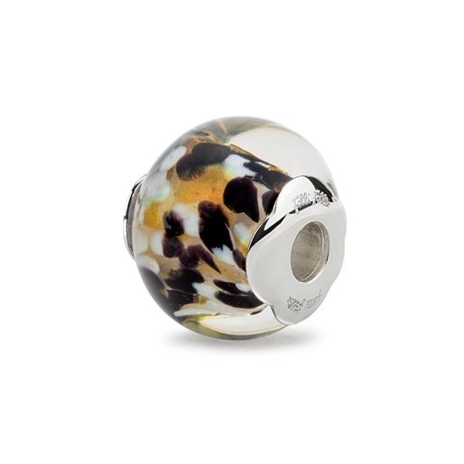 Rebel Riviera Silver Plated Mourano Glass Bead Pendant -