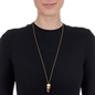 Club Riviera Rose Gold Plated Mourano Glass Bead Pendant-