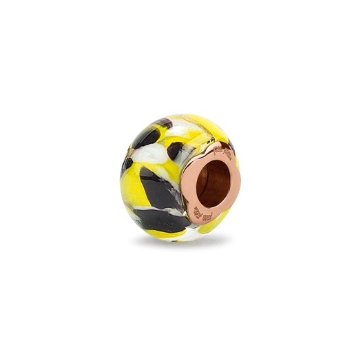 Rebel Riviera Rose Gold Plated Mourano Glass Bead Pendant -