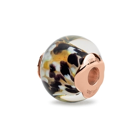 Rebel Riviera Rose Gold Plated Mourano Glass Bead Pendant-