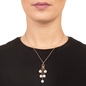 Pearl Fusion Silver 925 18k Rose Gold Plated Pendant-