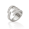 Fashionably Silver Temptation Rhodium Plated Stone Ring