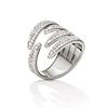 Fashionably Silver Temptation Rhodium Plated Stone Ring