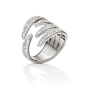 Fashionably Silver Temptation Rhodium Plated Δαχτυλίδι-