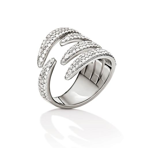 Fashionably Silver Temptation Rhodium Plated Stone Ring-