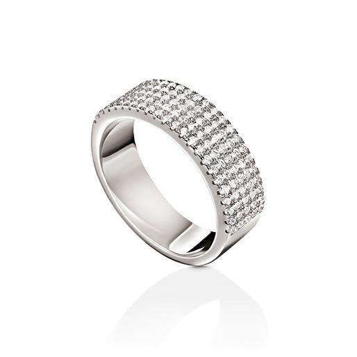 Fashionably Silver Essentials Rhodium Plated Σιρέ Δαχτυλίδι-