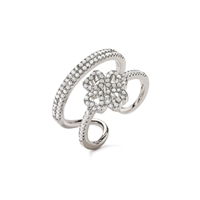 Miss Heart4Heart Silver 925 Double Ring-