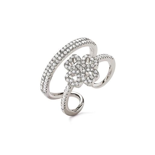 Miss Heart4Heart Silver 925 Διπλό Δαχτυλίδι-