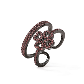 Miss Heart4Heart Black Plated Ring-