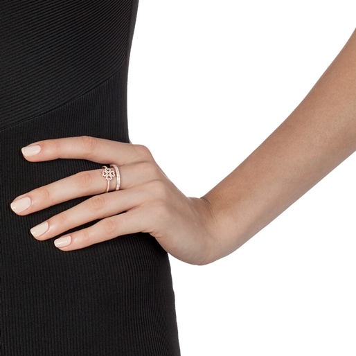 Miss Heart4Heart Rose Gold Plated Double Ring-