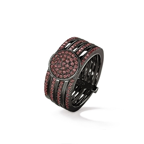 Cyclos Black Flash Plated Wide Ring-