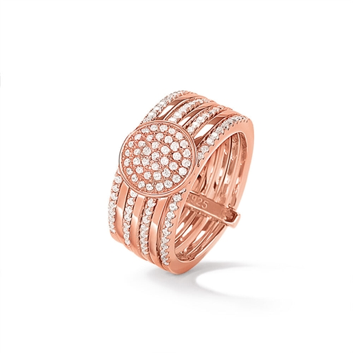 Cyclos Rose Gold Plated Wide Ring-