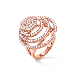 Cyclos Rose Gold Flash Plated Large Ring-