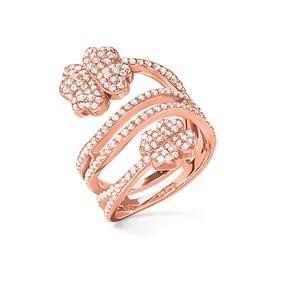 Heart4Heart Rose Gold Plated Δαχτυλίδι-