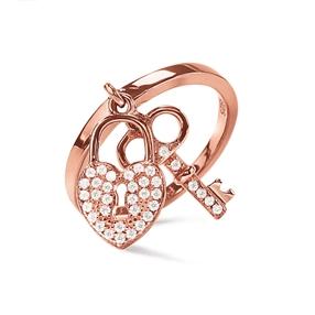Charm Mates Rose Gold Plated Δαχτυλίδι-