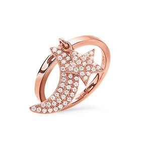 Charm Mates Rose Gold Plated Ring-
