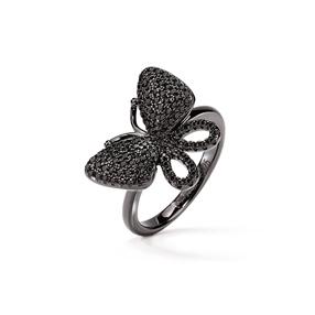 Wonderfly Black Flash Plated Ring-