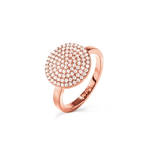 Discus Rose Gold Plated Large Ring-