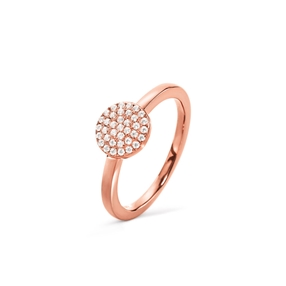 Discus Rose Gold Plated Small Ring-