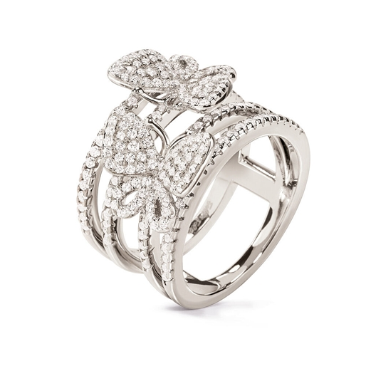 Wonderfly Silver 925 Wide Ring-