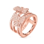 Wonderfly Rose Gold Flash Plated Wide Ring-