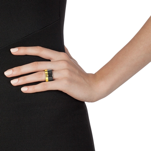 Style Stories Two Tone Wide Ring-