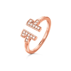 My FF Rose Gold Plated Δαχτυλίδι-